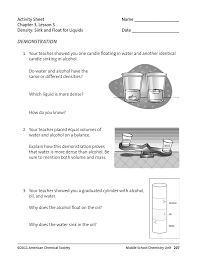 activity sheet name chapter 3 lesson 5