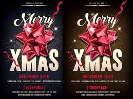 christmas psd party flyer template by christos andronicou dribbble