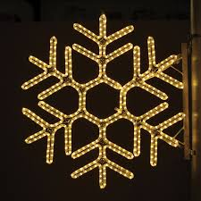 Lowes Outside Christmas Decorations by Shop Holiday Lighting Specialists 3 Ft Hexagon Snowflake Pole