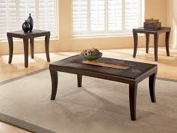 Living Room Accent Table Furniture Of America Carnes Dark Cherry 3 Piece Accent Table Set