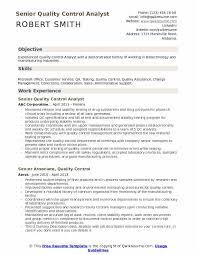 Qa Analyst Resume Sample Quality Control Analyst Resume Samples Qwikresume