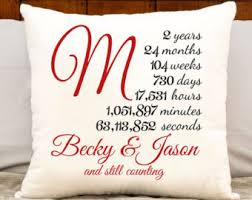 monogrammed anniversary gifts 2nd anniversary cotton gift personalized gift custom initial