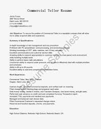 Resume For Bank Teller Objective Bank Teller Job Description Bank Teller Resume No Experience How