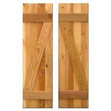 brown board u0026 batten exterior shutters the home depot