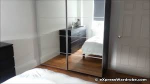 Sliding Door Bedroom Wardrobe Designs Ikea Pax Auli Sliding Mirror Door Wardrobe Design Youtube