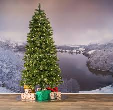 Pre Lit Pre Decorated Christmas Trees 8ft Pre Lit Bayberry Spruce Slim Feel Real Artificial Christmas Tree