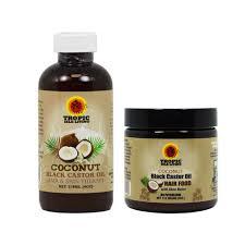 tropic isle living jamaican coconut black castor oil and coconut