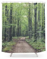 society6 forest path shower curtain contemporary shower