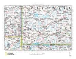 Missouri Map Usa by Sac River Spring River Drainage Divide Area Landform Origins In