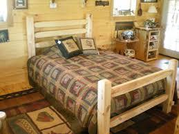 Timber Bedroom Furniture by Handmade Timberjack Log Bed Kit Wood Bed Frame Kit Log Bedroom