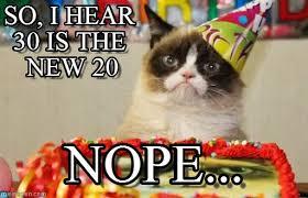30th Birthday Meme - grumpy cat 30th birthday grumpy cat birthday meme on memegen