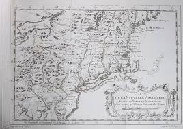 Maps Of New England by 1757 Map Of New England New York And Pennsylvania Chadbourne
