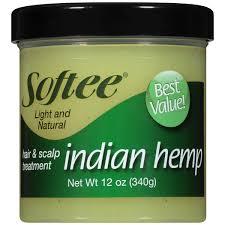 softee indian hemp light and natural hair u0026 scalp treatment 12 oz