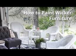 Can You Paint Wicker Chairs How To Paint Wicker Furniture Quickly And Easily Youtube