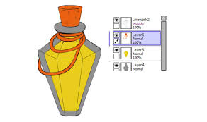 how to create a trio of magical potions in paint tool sai