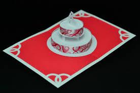 red wedding cake pop up card creative pop up cards
