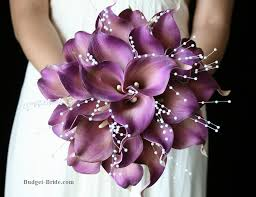 Purple Wedding Flowers Purple Calla Lily Wedding Flowers I Love This Bouquet And It