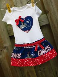 New England Patriots Newborn Clothes New York Giants Inspired Cheerleader Dress