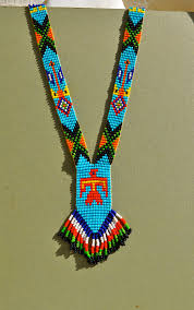 indian beads necklace images Vintage native american bead necklace with fringe by native jpg