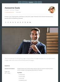 Resume Pages Template Connect Theme U2014 Wordpress Com