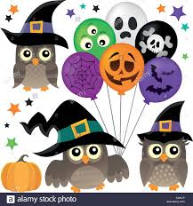 halloween owls thematic collection 1 eps10 vector illustration