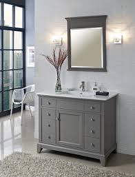 Antique Vanity With Mirror Bathroom Ideas Antique Gray Bathroom Vanity Under Framed Mirror
