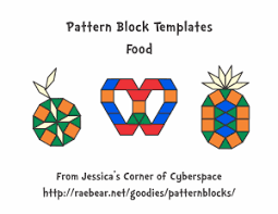 pattern block templates from jessica u0027s corner of cyberspace