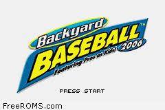 Backyard Baseball 2004 Download Gameboy Advance For Backyard Baseball 2006 Rom