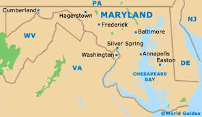 maryland map capital maryland state tourism and tourist information information about