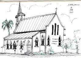 architecture sketch u2013 anglican church in tacarigua trinidad the