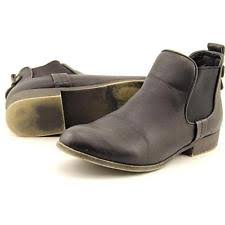 company 0742 womens leather knitted sock ankle boots s synthetic pull on ankle boots ebay