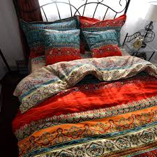 amazon com maxyoyo new boho style duvet cover set colorful stripe