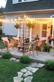 Patio String Lights Ideas by Diy Patio String Lights Outdoor Lights Ideas