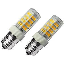 lg microwave oven light bulb replacement amazon com atmoz 2 pack e17 new longer 152 led dimmable warm