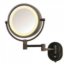 bathroom makeup mirror wall mount top 52 first class oil rubbed bronze vanity mirror large wall