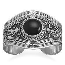 sterling silver black onyx bracelet images Free shipping items buffalo trader online JPG