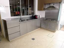 Steel Kitchen Cabinet Stainless Steel Kitchen Cabinets Yew Lee Metal Works Pte Ltd