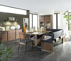 dining room contemporary kitchen design with comfy dining bench