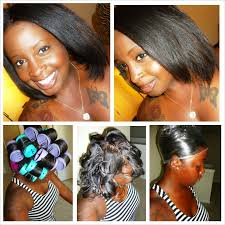 roller wrap hairstyle roller set shariallsmiles