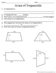 118 best area of trapezoid and triangle images on pinterest