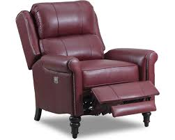 innsbruck high leg recliner with nailhead trim lane furniture