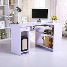 Pc Desk Corner Homcom Computer Pc Corner Desk Home Office Table Furnitur Https