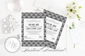 art deco wedding invitation sienna invitation templates