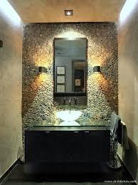 Powder Room Photos - bali ocean pebble tile powder room wall covering pebble tile shop