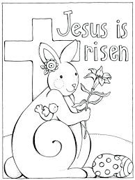 religious coloring sheets for easter christian pages