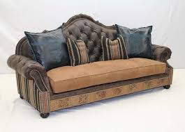 western leather sofa old hickory tannery boundary trail sofa western sofas and