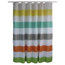 Rugby Stripe Curtains Shower Curtain Circo Rugby Stripes Warm Target Bathroom