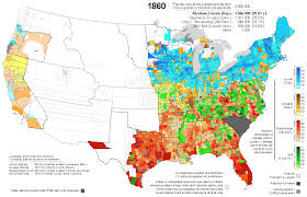 Iowa Illinois Map Presidential Election Of 1860 Map By Counties