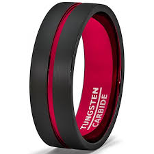 mens black wedding band tungsten wedding rings for him american tungsten carbide