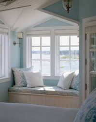 zosia24 cape cod coastal blue reading nook of master bedroom